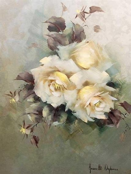 Jeanette Dykman, Still Life Yellow Roses