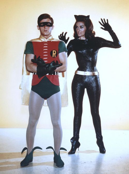Robin and Catwoman the original BATMAN TV Series 1966-69  Burt Ward and Julie Newmar