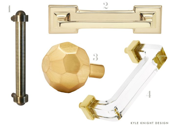 #brass - Knight Moves - Cabinet Hardware: Finding the Right Mix