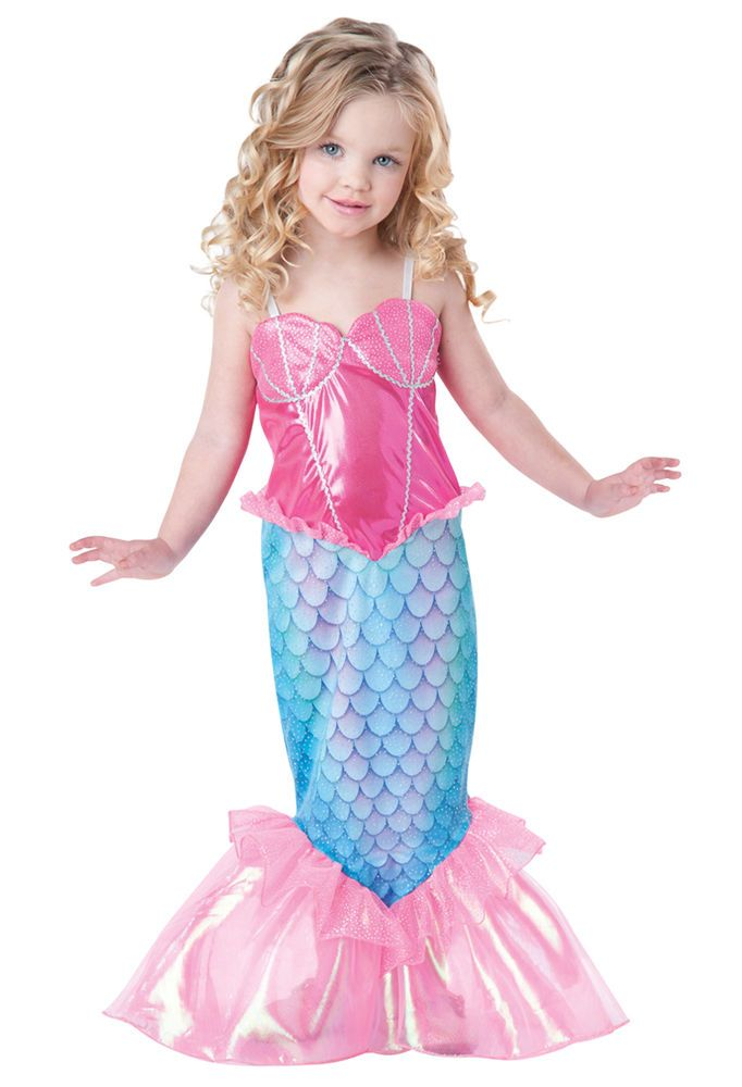 kids mermaid toddler little girls halloween costume - Little Girls Halloween Costume Ideas