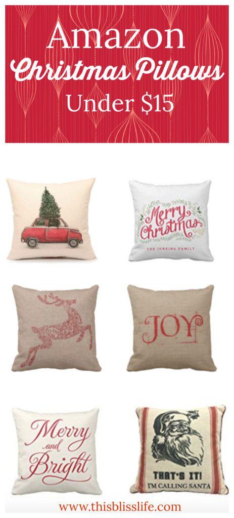 The Best Amazon Christmas Pillows under $15 #Christmas #farmhouse #pillows