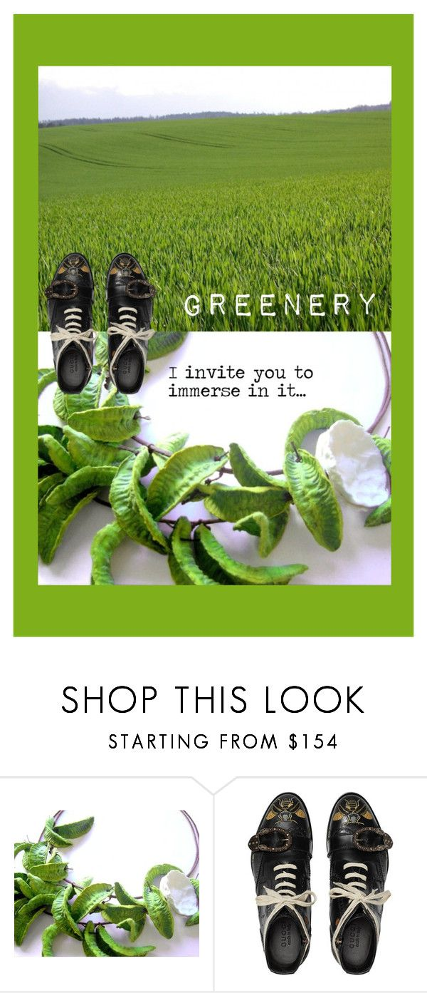 """""""Greenery"""" by renterodesigns on Polyvore featuring moda y Gucci"""
