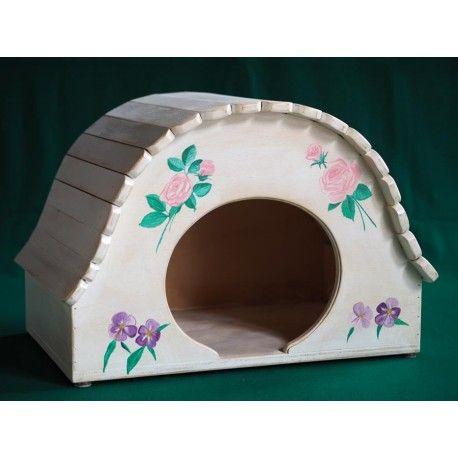 Cuccia Igloo shabby chic Indoor - taglia XXL - Blitzen La cuccia igloo per interni in stile shabby è ideale per gatti di grossa taglia (peso indicativo 8 kg) e per cani di piccola corporatura.  Misure:  altezza cm 40, larghezza cm. 58, spessore cm. 38, l'arco di ingresso è alto 23 cm. e largo 27, spessore 1,5 cm - viene consegnata già montata.  E' possibile personalizzare la cuccia gratuitamente con il nome del proprio animale