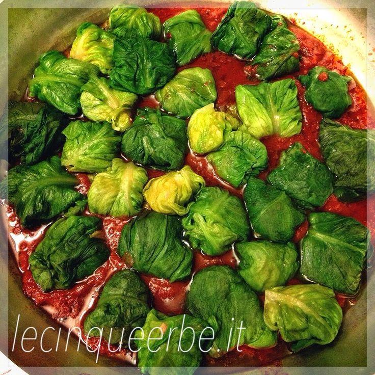 La Liguria in cucina - Ricette Liguri - Ricette Vegetariane e Vegane - Dieta Ligure - Slow Food - Lattughe ripiene - Piatto della tradizione ligure