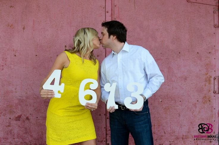 Chicago Engagement Photography Props Save the Date Numbers