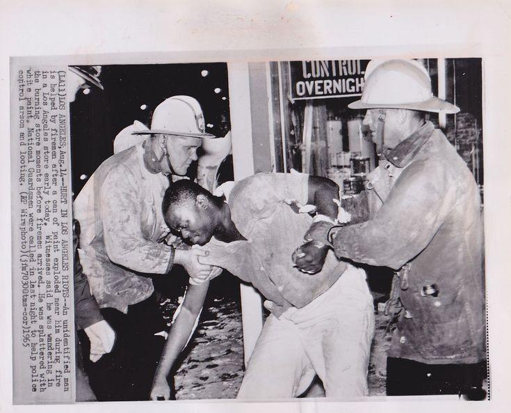 WATTS Los Angeles BLACK VICTIMS Riots Civil Rights * VINTAGE 1965 press photo