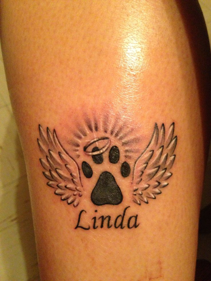Tattoo in memory of my dog Linda
