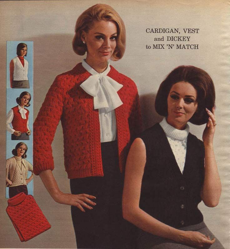 Vintage Women's Dickey Cardigan Dress from a 1964 catalog. #1960s #fashion