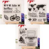1 foglio Mappe FAI DA TE Fiori di Amore Trasparente Cancella Timbri di Gomma per bambini Sigillo del Mestiere di Carta Scrapbooking Decorazione