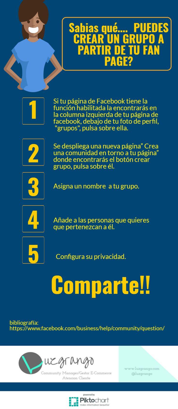 Facebook: cómo crear un grupo a partir de tu Fan Page #SocialMedia #Facebook