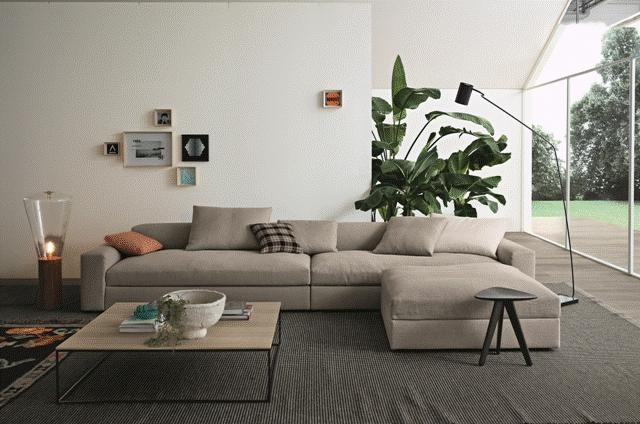 POLIFORM: Skipe bookcase, Dune sofa, Edge coffee table and Ipsilon stool