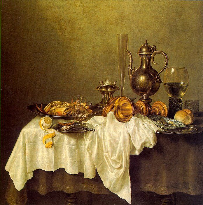 Willem Heda (Claesz.)  (b Haarlem, 1594; d Haarlem, 1680).   Breakfast with Crab.