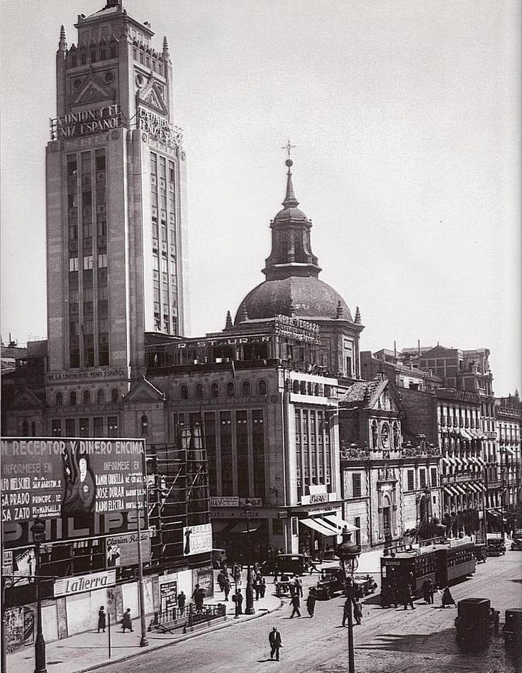 cruce de alcalá y virgen de los peligros, 1931.