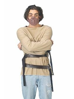 Adult Straight Jacket Costume with Face Mask