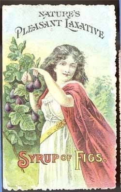 Syrup Figs Victorian trade card CA fruit papent medicine vintage $9.99