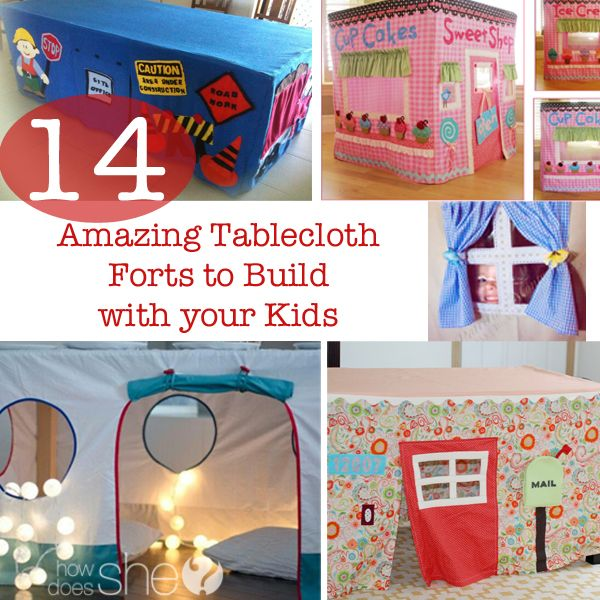 14 Amazing Tablecloth Forts to Build with your Kids
