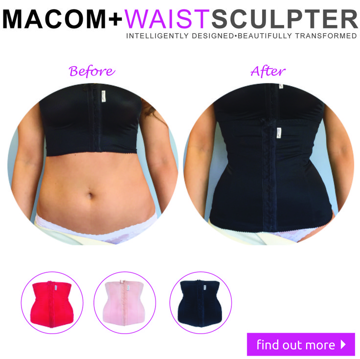 The medically designed corset for a waist instantly sculpted into hourglass perfection... Like magic!