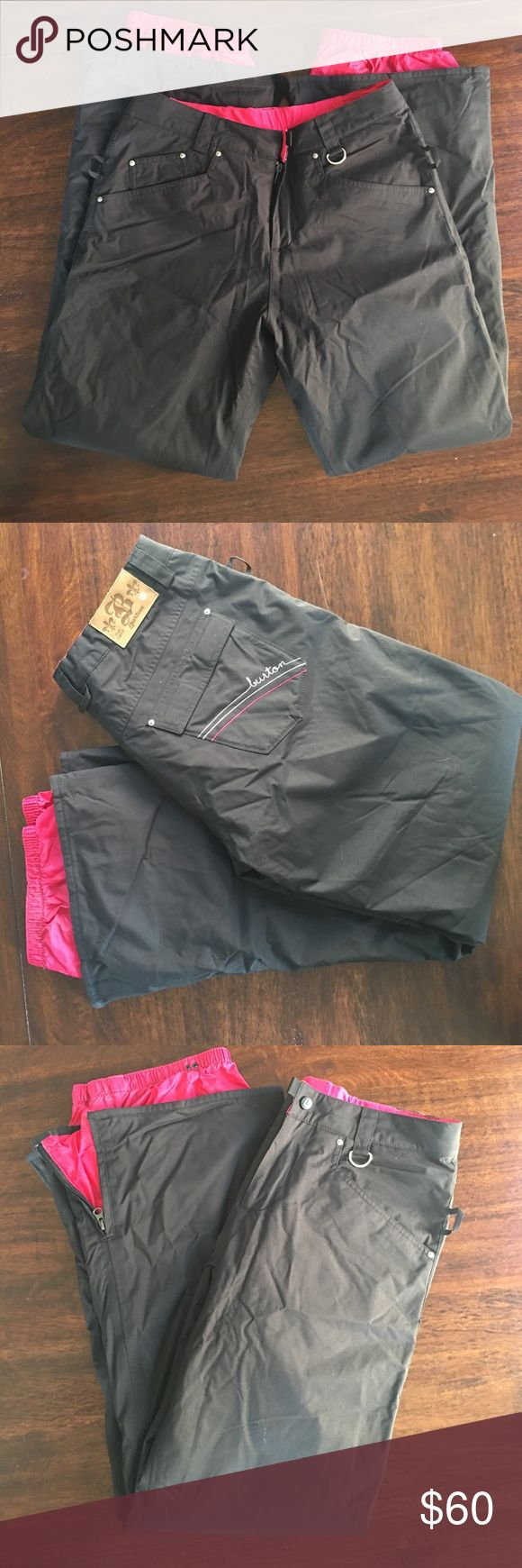Burton Snowboarding Pants Burton Snowboarding Pants. Black color with pink accents. Comfy and fits well. No major wear and tear. Only worn a few times. Great quality. Size S. Burton Other