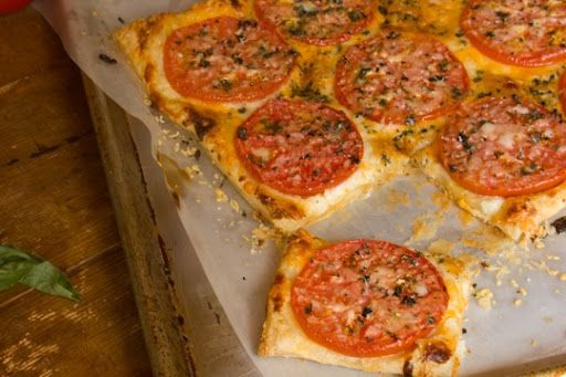 Three Cheese Tomato Tart | Appetizers/Dips/Drinks | Pinterest