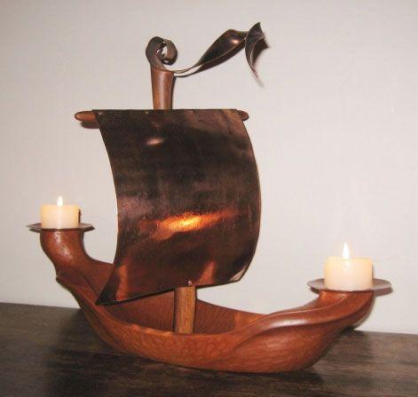 Original Artwork  #candleholder #ship #boat #carving #wood #nzartist #homewares #nzartist #fineart