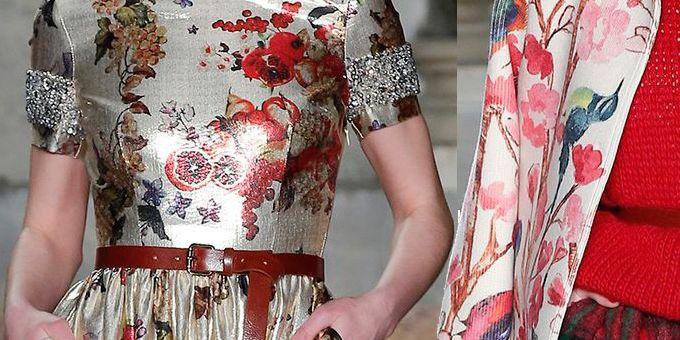 Tuniche dalla linea ad A indossate su flare, abiti lunghi o corti arricciati in vita e joupon da fanciulla in fiore per Blugirl.
