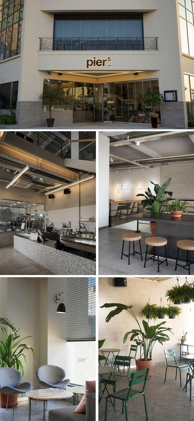 [No.178 Pier5] 50평 화이트 빈티지 로스터리 카페 인테리어, 대리석 바, 타일, 파벽돌