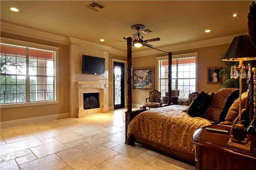 The master bedroom of the San Antonio home