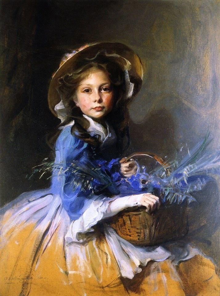 Philip Alexius de László (Hungarian-born British painter) 1869 - 1937. Miss Olive Trouton, 1910. Oil on board, 90.5 x 70.2 cm. (35.63 x 27.64 in.), private collection