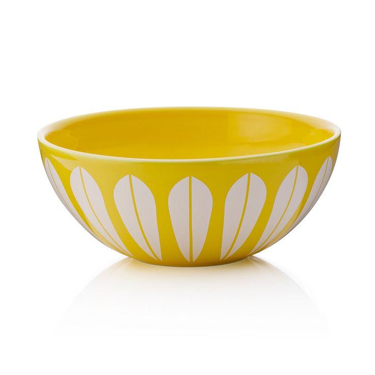 Lucie Kaas Lotus skål gul 18cm