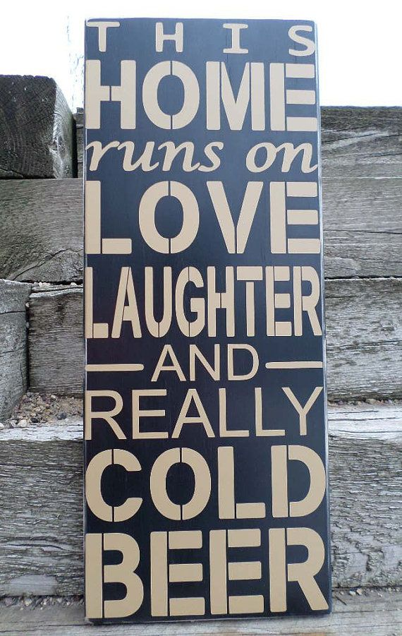 Hey, I found this really awesome Etsy listing at https://www.etsy.com/listing/211556226/this-home-runs-on-sign-love-and-laughter