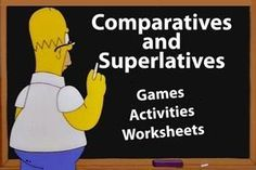 These rewarding ESL games, activities and worksheets combine comparative and superlative adjective forms and structures together. The page contains a wealth of fun worksheets, lessons and activities to give students practice at using both forms with a wide range of adjectives and expressions.