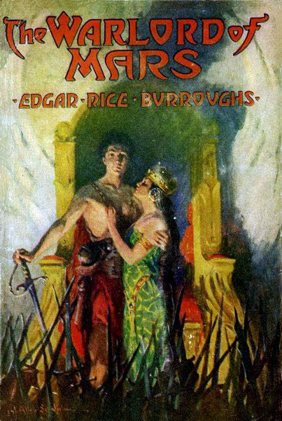 Cover art by J. Allen St. John from The Warlord of Mars by Edgar Rice Burroughs, McClurg, 1919.