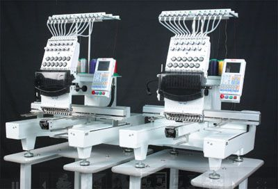 Butterfly Dual Head Commercial Embroidery Machines www.ButterFlyEmb.com