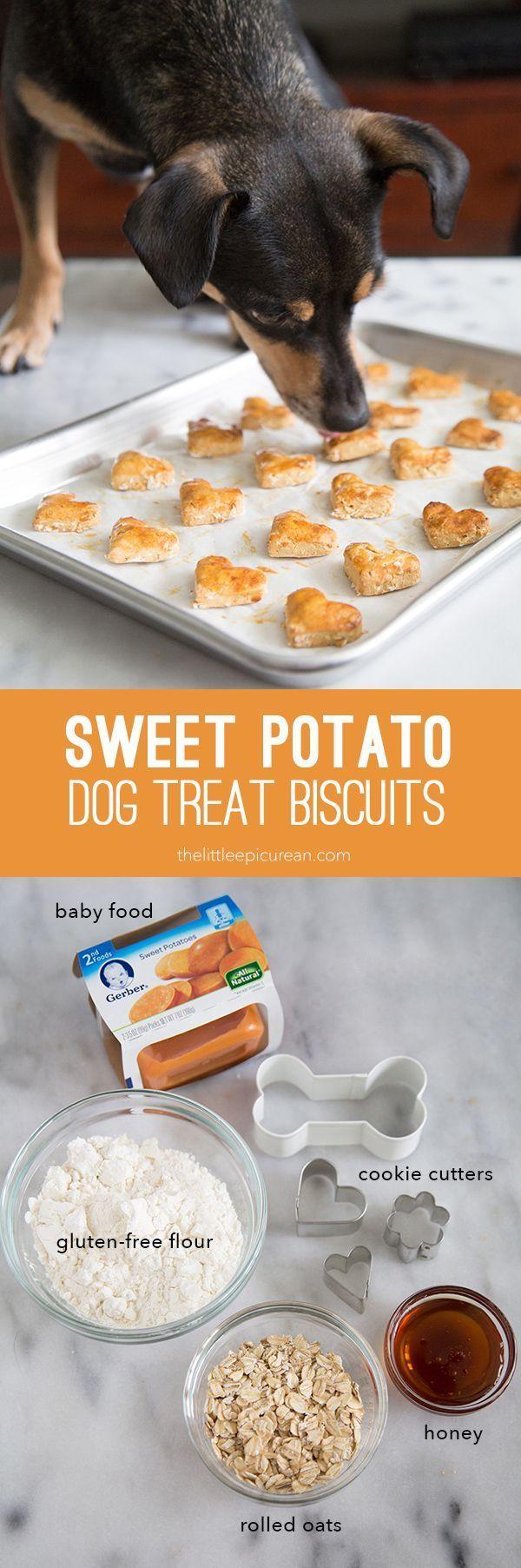 Sweet Potato Dog Treat Biscuits