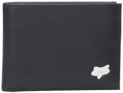 Great for a boy racer! A neat, real leather wallet, featuring the iconic Fox Head motocross racing logo. available in black, white or brown. #Wallet #Teens Wallet #Leather