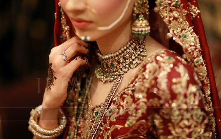 Jaravi lacha and karan phool. Hyderabadi jewelry.