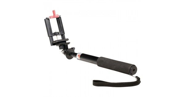 Selfie stick.Τηλεσκοπικό μονόποδο για κινητά τηλέφωνα και φωτογραφικές μηχανές.- Μήκος έως 73,5cm- Αντιολισθητική λαβή και βραχιόλι για βέλτιστη ασφάλεια και άνεση- Ρυθμιζόμενη κλιπ στήριξης συσκευής έως 100 mm- Στιβαρή κατασκευή αλουμινίου με σύστημα κλειδώματος-