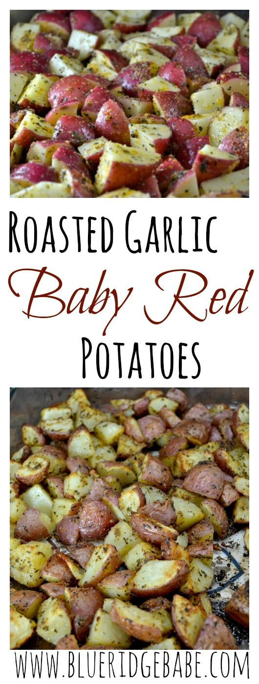 healthy & crispy roasted garlic baby red potatoes