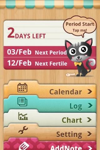 Mi calendario te dice tus días fertiles y de ovulación.