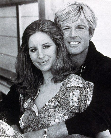 Young Barbra Streisand | The Way We Were: Streisand with co-star Robert Redford