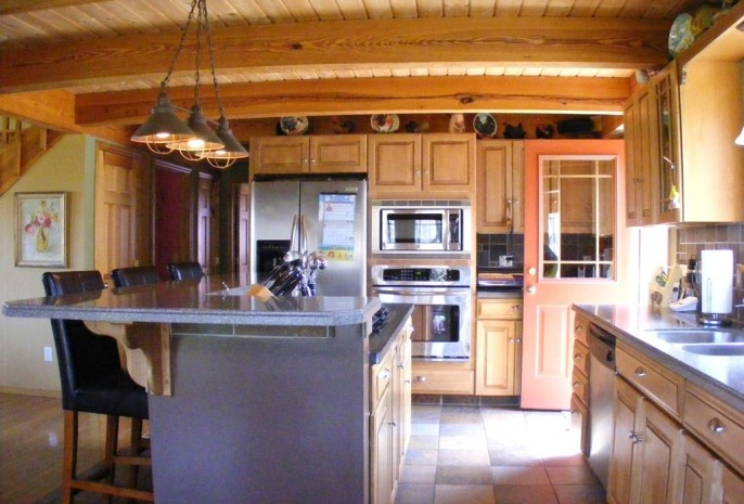 Post And Beam Kitchen Home Sweet Home Pinterest