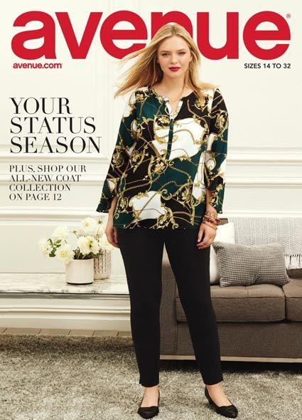 69ba5e18f5e Lookbook женской одежды больших размеров американского бренда Avenue  осень-зима 2018-2019  plussize