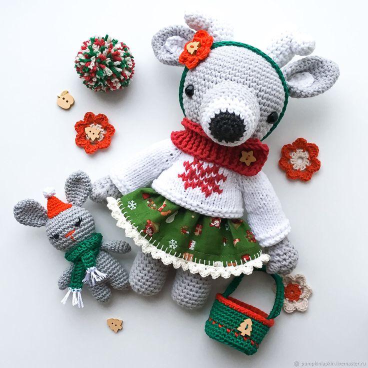 Crochet toy Deer |  Купить Вязаная игрушка оленёнок в одежде в интернет магазине на Ярмарке Мастеров