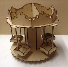 Porta Cupcakes O Caramelera Carrusel Calesita Mdf Laser - $ 595,00 en Mercado Libre