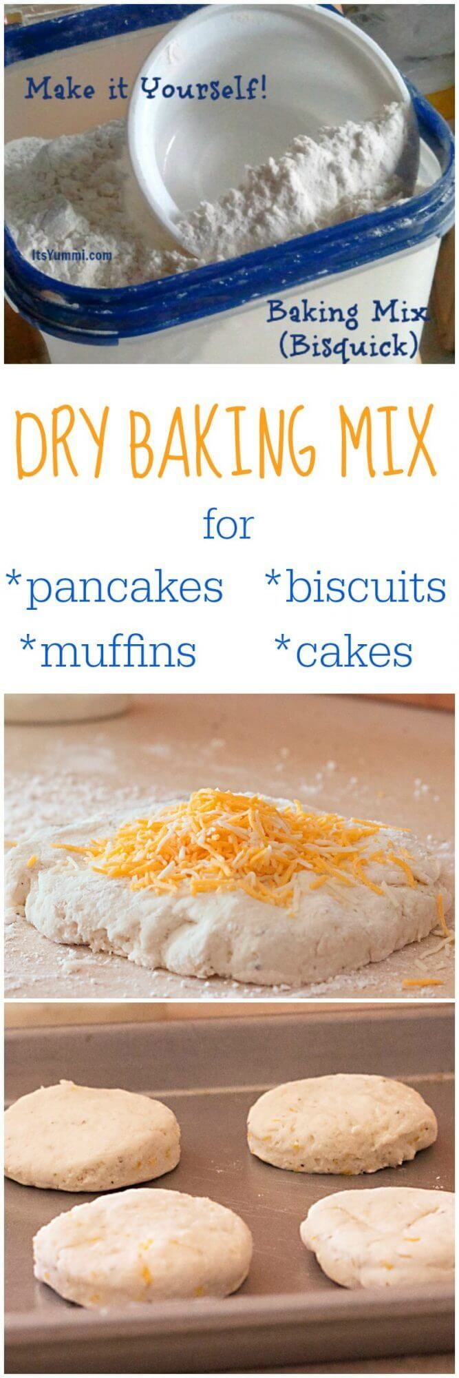Homemade Dry Baking Mix (DIY Bisquick) is less expensive and better for you than…