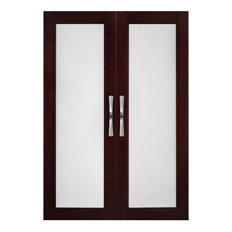 closet doors | 100% real Solid Wood Closet Organizer Doors with Frosted Glass