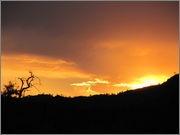 Sunset at Yanyanna Hut
