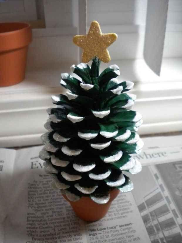 Miniature Pine Cone Christmas Tree