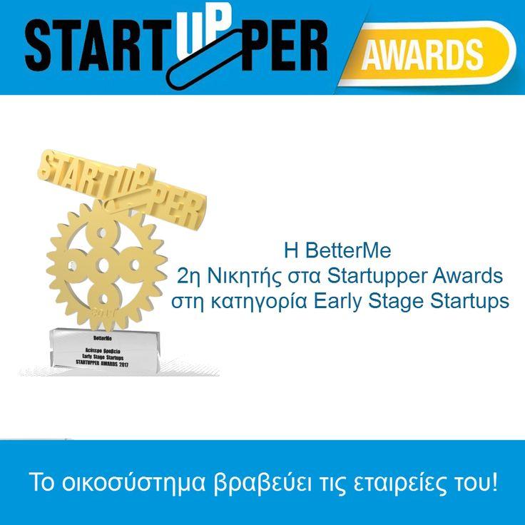 Η BetterMe 2η Νικητής στα Startupper Awards στη κατηγορία Early Stage Startups. Σας ευχαριστούμε για την υποστήριξη. https://goo.gl/u2vLGe  του #Startupper, #StartupperAwards, #GreekStartupAwards, #StartupGR, #Startup #BetterMeEU