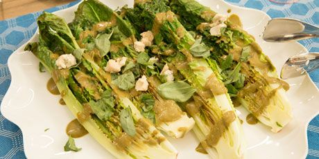 Grilled Romaine with Balsamic Dressing Recipes | Food Network Canada